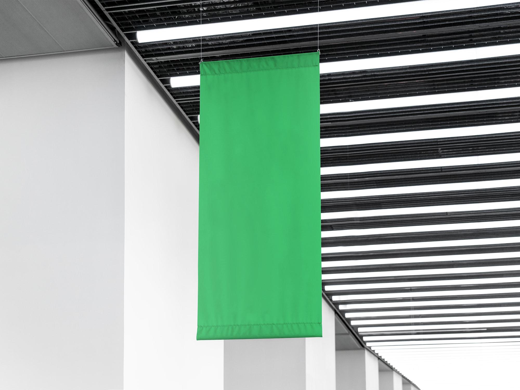 Indoor Flag Mockup