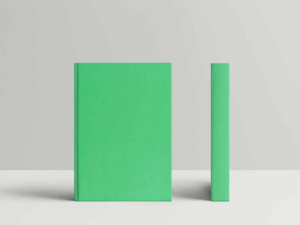 two hardcover book mockups