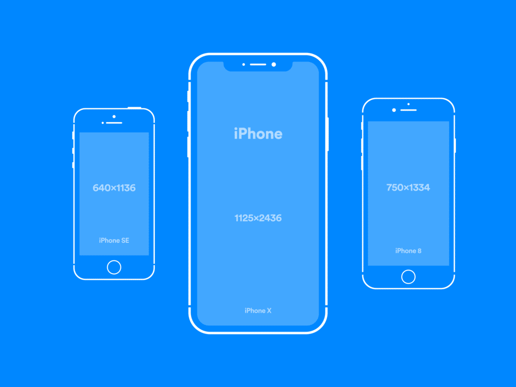 simplistic vector iphone mockups the mockup club