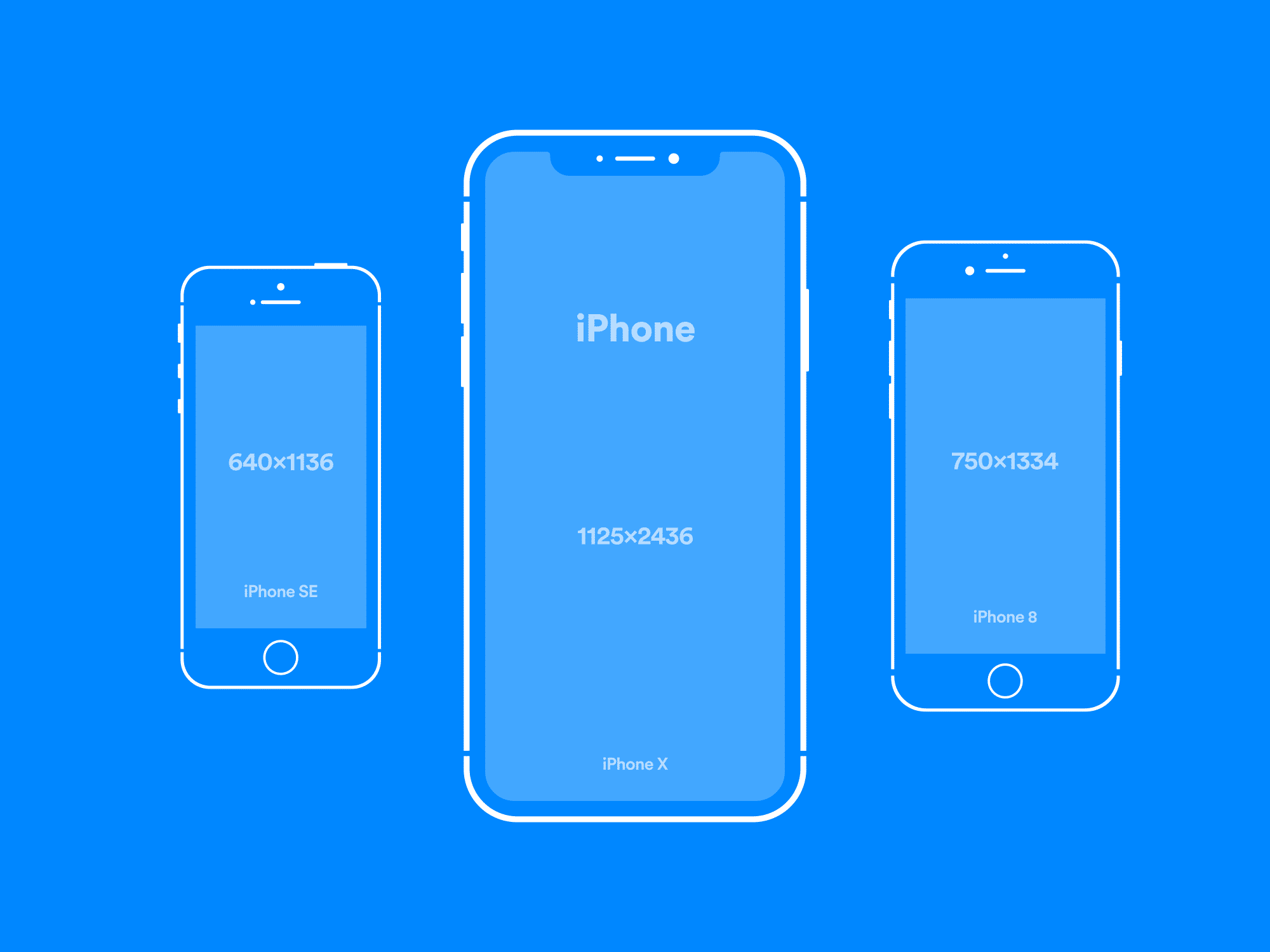 Simplistic Vector iPhone Mockups | The Mockup Club