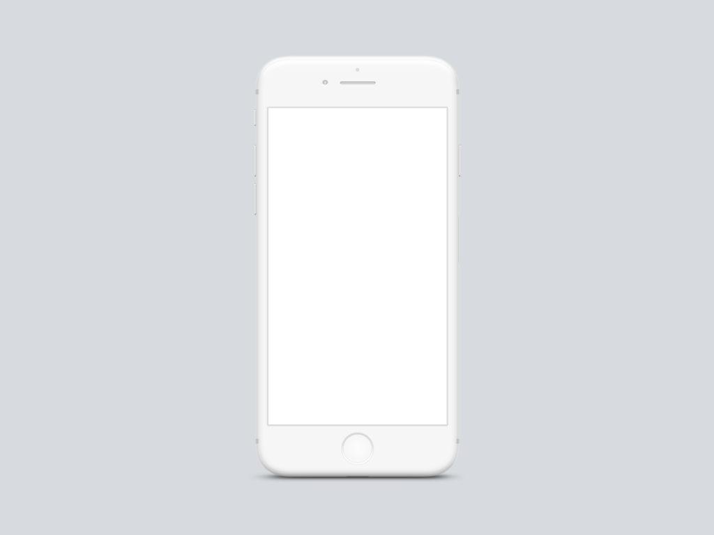 iphone x white mockup psd