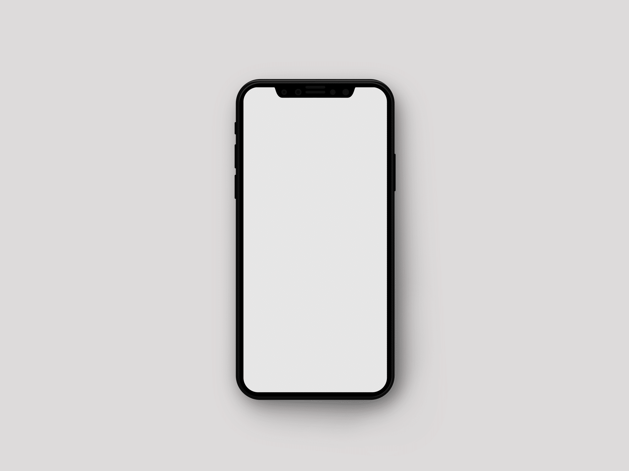Minimalistic Iphone X Mockup The Mockup Club