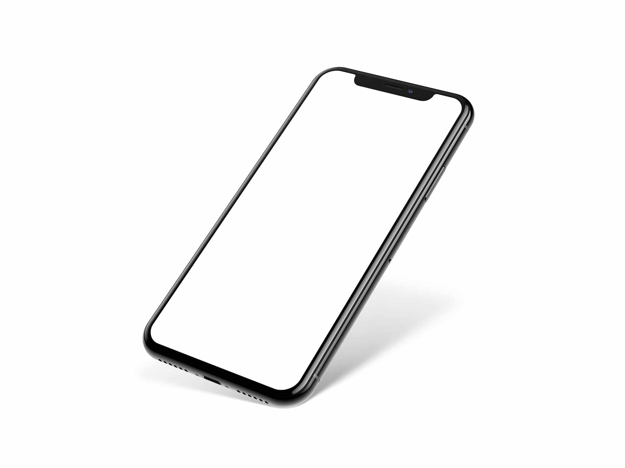 iPhone X Perspective Mockup | The Mockup Club